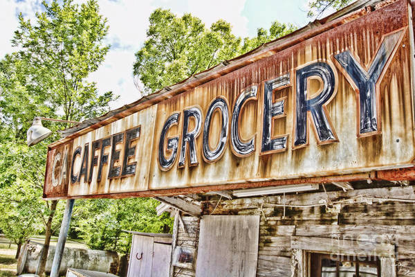 Grocery Print featuring the photograph Caffee Grocery by Scott Pellegrin