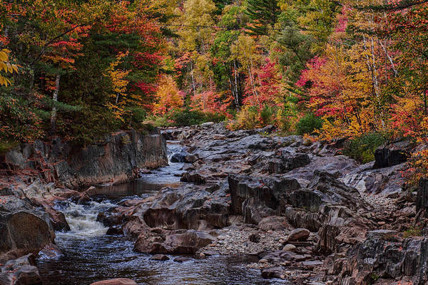 #jefffolger #vistaphotography Print featuring the photograph Canyon Color Rushing Waters by Jeff Folger