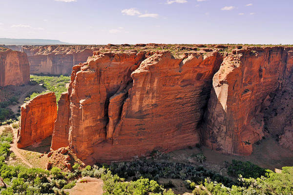 Canyon Print featuring the photograph Canyon De Chelly - View From Sliding House Overlook by Christine Till