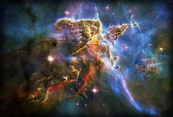 Universe Print featuring the photograph Carina Nebula 6 by The Vault - Jennifer Rondinelli Reilly