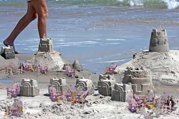 Sandcastle Print featuring the digital art Castle Kingdom by Betsy Knapp