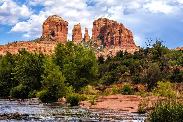 Fred Larson Print featuring the photograph Cathedral Rock by Fred Larson