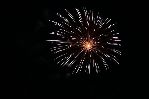 Fireworks Print featuring the photograph Celebration Xxiv by Pablo Rosales
