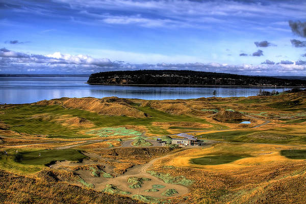 Chambers Bay Golf Course Print featuring the photograph Chambers Bay Golf Course by David Patterson