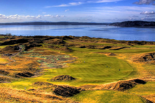 Chambers Bay Golf Course Print featuring the photograph Chambers Bay Golf Course II by David Patterson