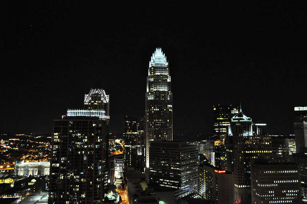 Charlotte Print featuring the digital art Charlotte Night Cnp by Jim Brage