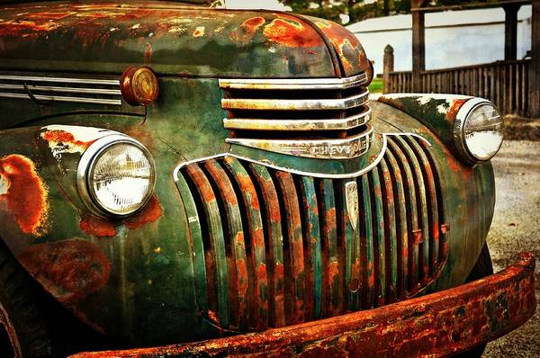 Chevy Print featuring the photograph Chevy Truck by Marty Koch