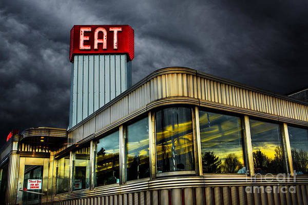Diner Print featuring the photograph Classic American Diner by Diane Diederich