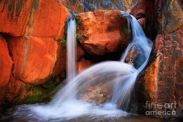 America Print featuring the photograph Clear Creek Falls by Inge Johnsson