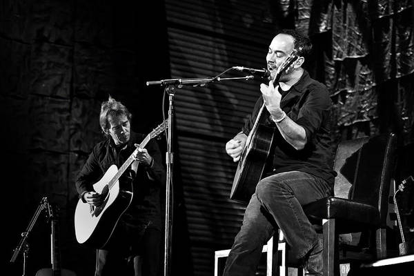 Dave Matthews Print featuring the photograph Dave Matthews And Tim Reynolds by The Vault - Jennifer Rondinelli Reilly