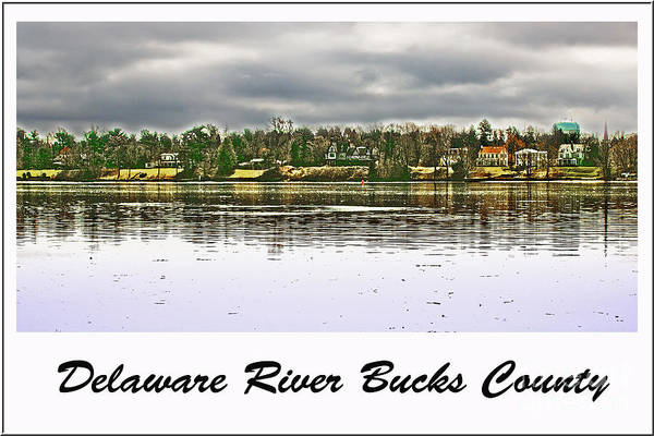 Delaware River Print featuring the photograph Delaware River Bucks County by Tom Gari Gallery-Three-Photography