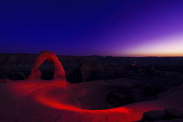 Utah Print featuring the photograph Delicate Twilight by Dustin LeFevre