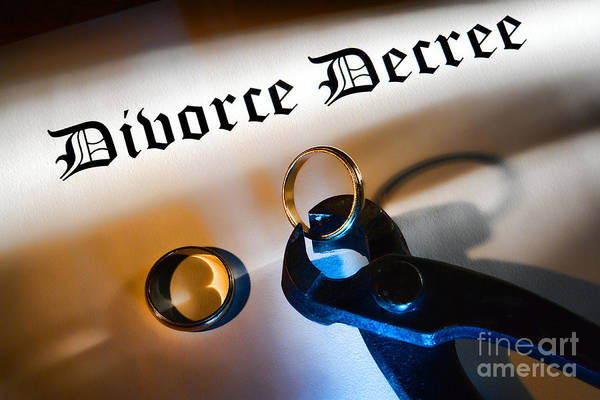 Divorce Print featuring the photograph Divorce Decree by Olivier Le Queinec