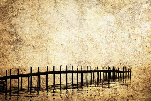 Balance Print featuring the photograph Dock 2 by Skip Nall