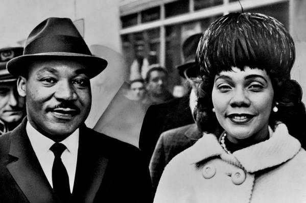 Martin Luther King Print featuring the photograph Dr And Mrs King by Benjamin Yeager