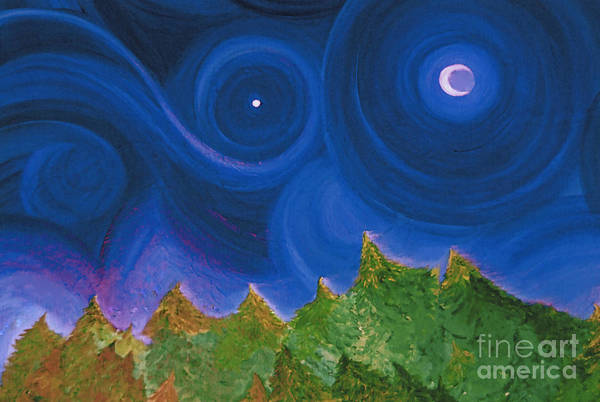 First Star Print featuring the painting First Star Wish By Jrr by First Star Art