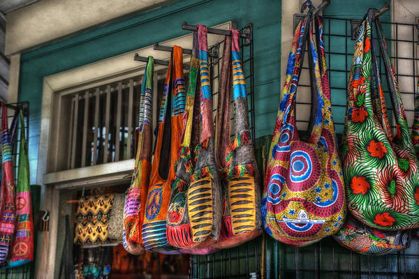 French Quarter Print featuring the photograph French Market Bags by Brenda Bryant