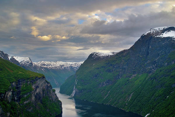 Geiranger Print featuring the photograph Geirangerfjord Sunset by Benjamin Reed