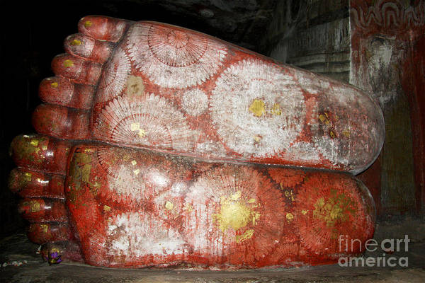 Spirituality Print featuring the photograph Giant Buddha Feet by Jane Rix