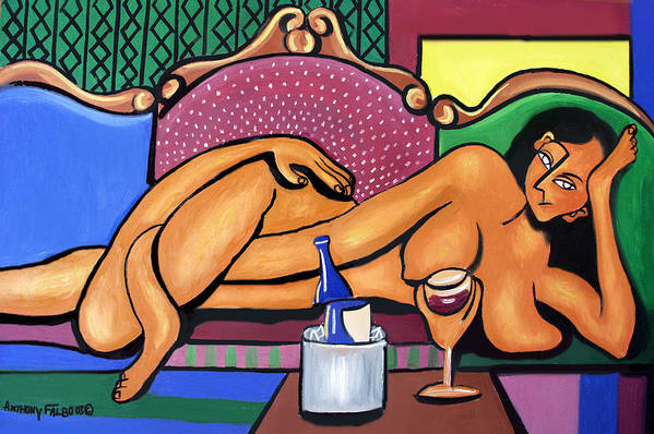 Happy Hour Print featuring the painting Happy Hour by Anthony Falbo