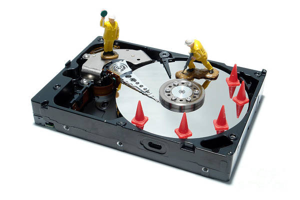 Computer Print featuring the photograph Hard Drive Repair by Olivier Le Queinec