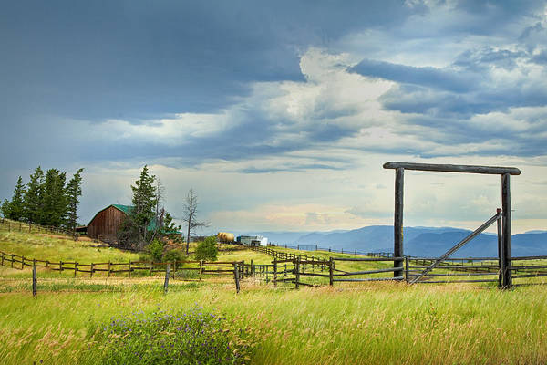 British Columbia Print featuring the photograph High Country Farm by Theresa Tahara