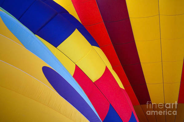 Balloons Print featuring the photograph Hot-air Patterns by Mike Dawson