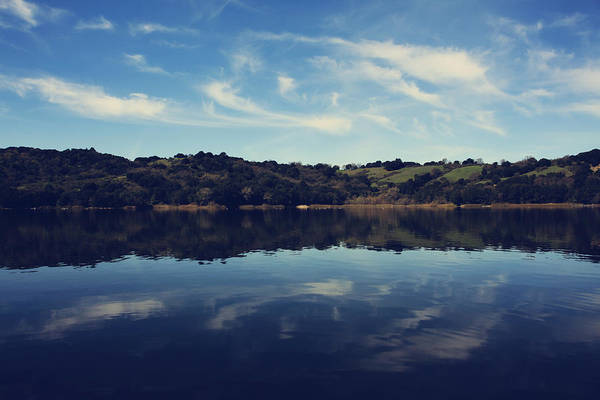 Lafayette Reservoir Recreation Area Print featuring the photograph I Float On Anyway by Laurie Search