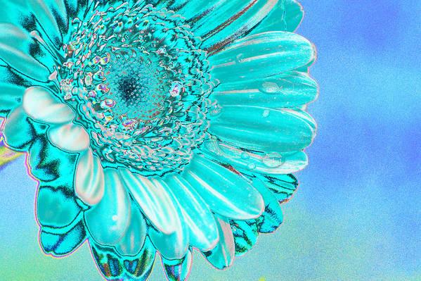 Blue Print featuring the digital art Ice Blue by Carol Lynch