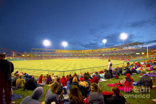 Victory Field Print featuring the photograph Indianapolis Indians by David Haskett