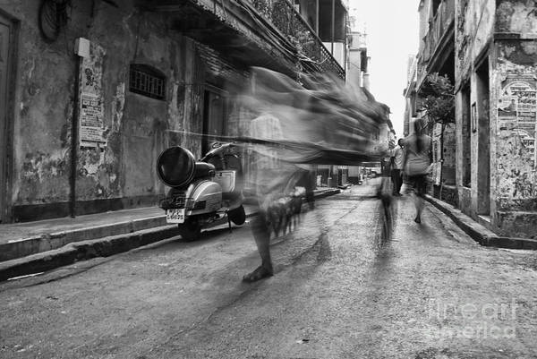 Rickshaw Print featuring the photograph Invisible Rickshaw Puller by Soumya Shankar Ghosal