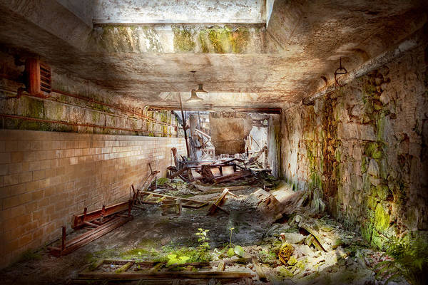 Jail Print featuring the photograph Jail - Eastern State Penitentiary - The Mess Hall by Mike Savad