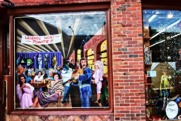 Legends Bar In Downtown Nashville Print featuring the photograph Legends Bar In Downtown Nashville by Dan Sproul