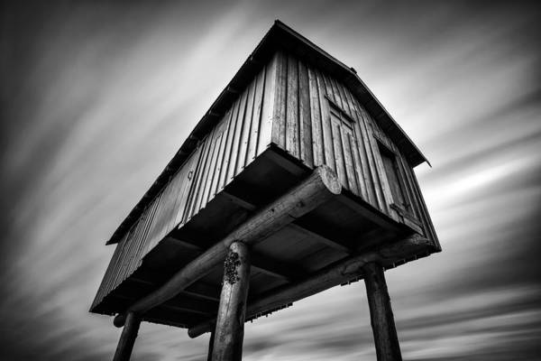 Monochrome Print featuring the photograph Lightshed by Alexis Birkill