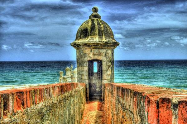 Old San Juan Print featuring the photograph Look Out by Dado Molina