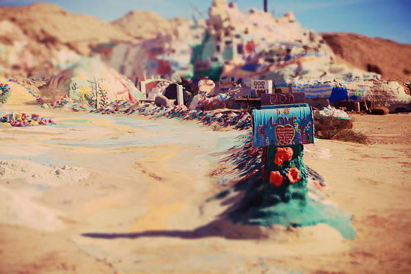 Salvation Mountain Print featuring the photograph Love Letters by Laurie Search