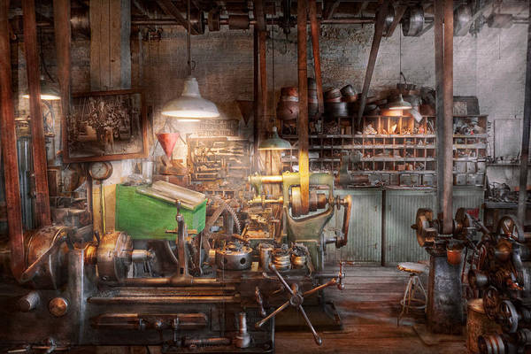 Machinist Print featuring the photograph Machinist - It All Starts With A Journeyman by Mike Savad