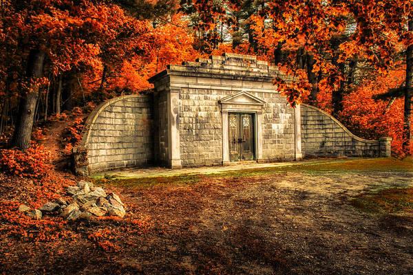 Mausoleum Print featuring the photograph Mausoleum by Bob Orsillo