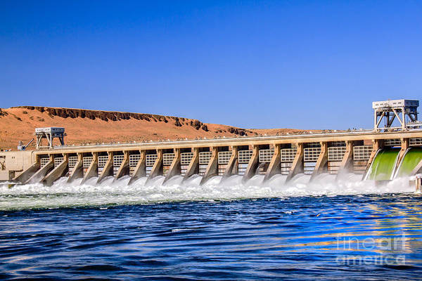 Dam Print featuring the photograph Mcnary Dam by Robert Bales