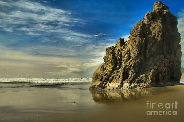 Meyers Creek Print featuring the photograph Meyers Beach Stacks by Adam Jewell
