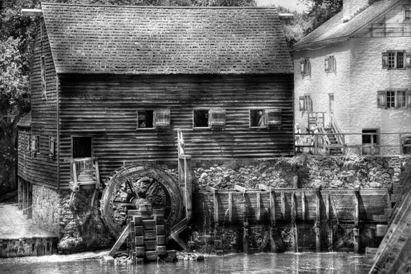 Savad Print featuring the photograph Mill - Sleepy Hollow Ny - By The Mill by Mike Savad