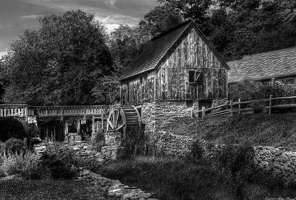 Savad Print featuring the photograph Mill - The Mill by Mike Savad