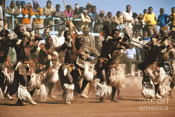 South Africa Print featuring the photograph Mine Dancers South Africa by Susan McCartney