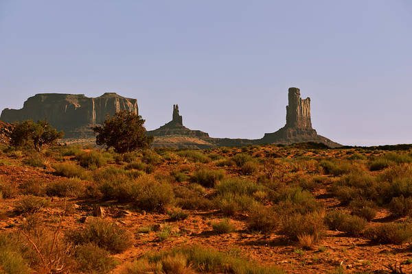 Monument Valley Print featuring the photograph Monument Valley - Unusual Landscape by Christine Till