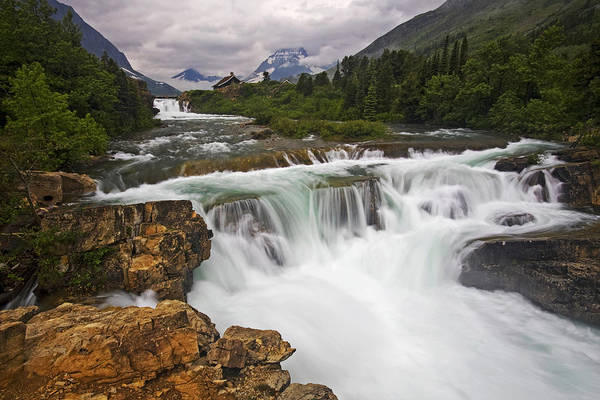Glacier National Park Print featuring the photograph Mountain Paradise by Mark Kiver