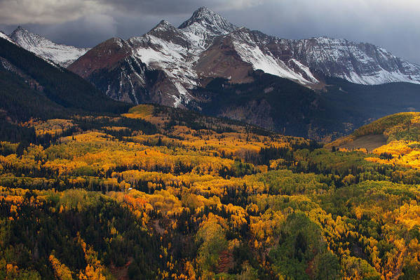 Colorado Landscapes Print featuring the photograph Mountainous Storm by Darren White