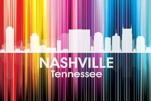 Nashville Print featuring the mixed media Nashville Tn 2 by Angelina Vick