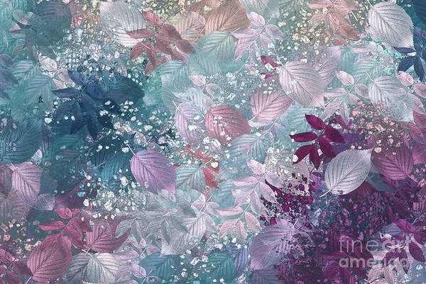 Abstract Digital Art Print featuring the digital art Naturaleaves - S1002b by Variance Collections