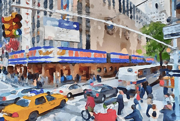 New Print featuring the digital art New York 4 by Yury Malkov