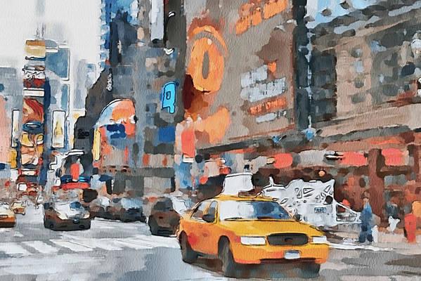 New Print featuring the digital art New York 6 by Yury Malkov